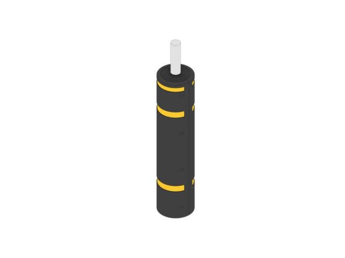Black & Yellow Lamp Post Protector