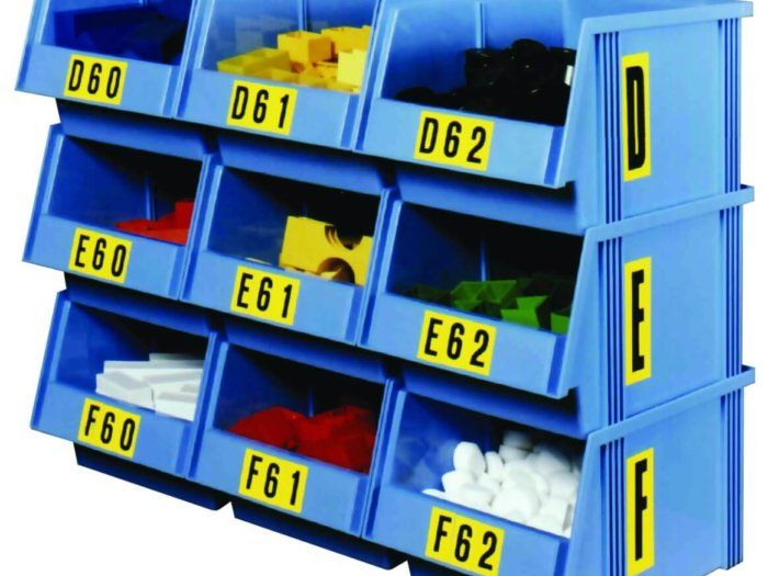 Self Adhesive Numbers and Letters on Picking Bins