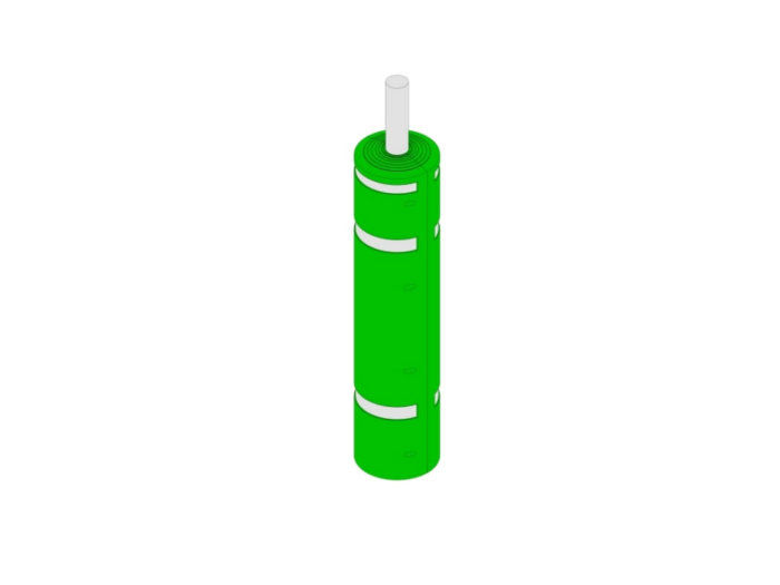 Green & Silver Lamp Post Protector