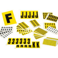 Yellow Self Adhesive Number & Letters