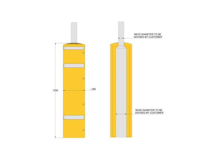 Yellow Lamp Post Protector