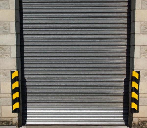 Traffic-Line Impact Protection Corner Protectors Around Door