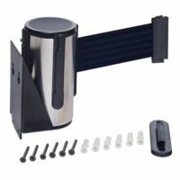 Stainless Steel Wall Mounted Belt Barrier With Black Belt