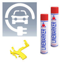 Electric Vehicle Charging Stencils and Kits - Red