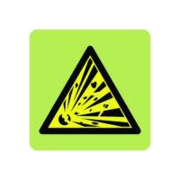 Explosive symbol in photoluminescent sign
