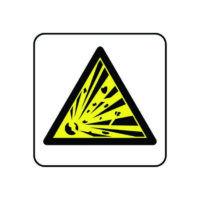 Explosive symbol sign