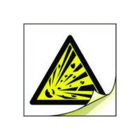 Explosive symbols labels