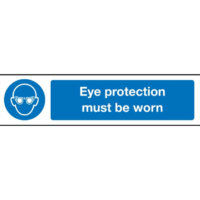 Eye protection must be worn mini sign