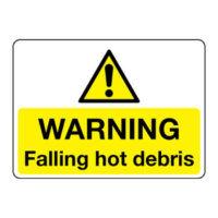 Falling hot debris sign