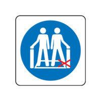 Feet away from sides symbol Escalator sign