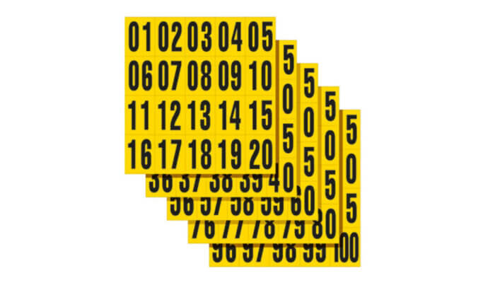 Self Adhesive Letters and Numbers