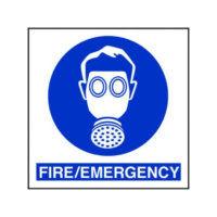 Fire emergency respirator sign