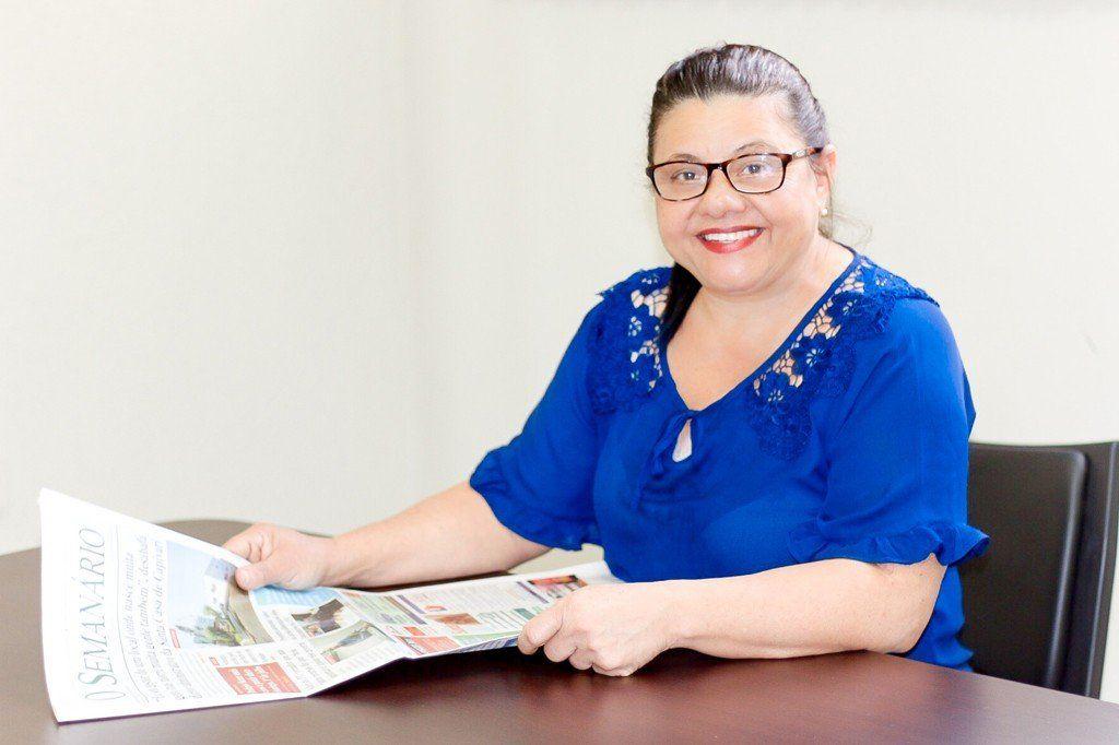 Vereadora Angela Barboza é a única mulher no Legislativo (Foto: Arquivo)