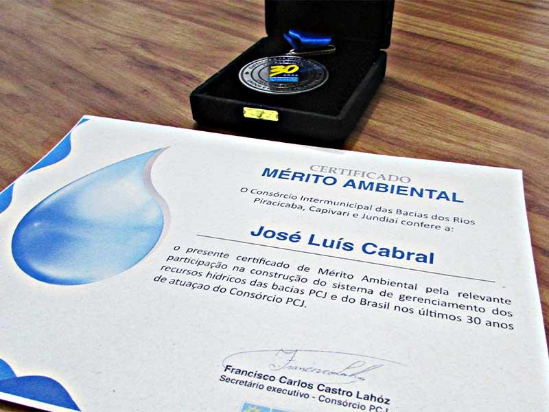certificado-mérito-ambiental-josé-luiz-cabral-saae-capivari-consórcio-pcj