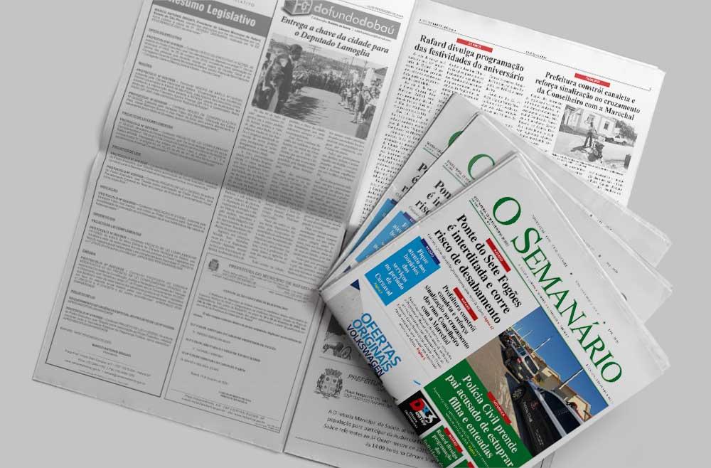 capa edição 1443 do jornal o semanário