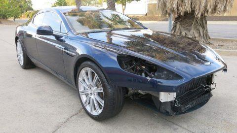 low miles 2011 Aston Martin Rapide Sedan repairable for sale