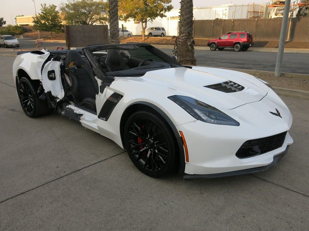 fully loaded 2018 Chevrolet Corvette ZO6 Supercharge repairable