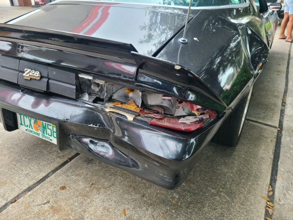 rear damage 1978 Chevrolet Camaro Z28 repairable
