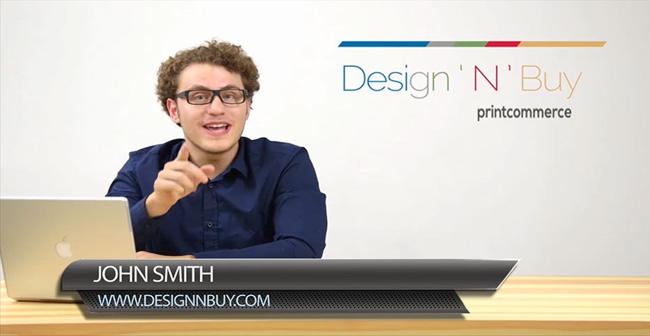 DesignNBuy Printcommerce Product Launch Spokesperson Video