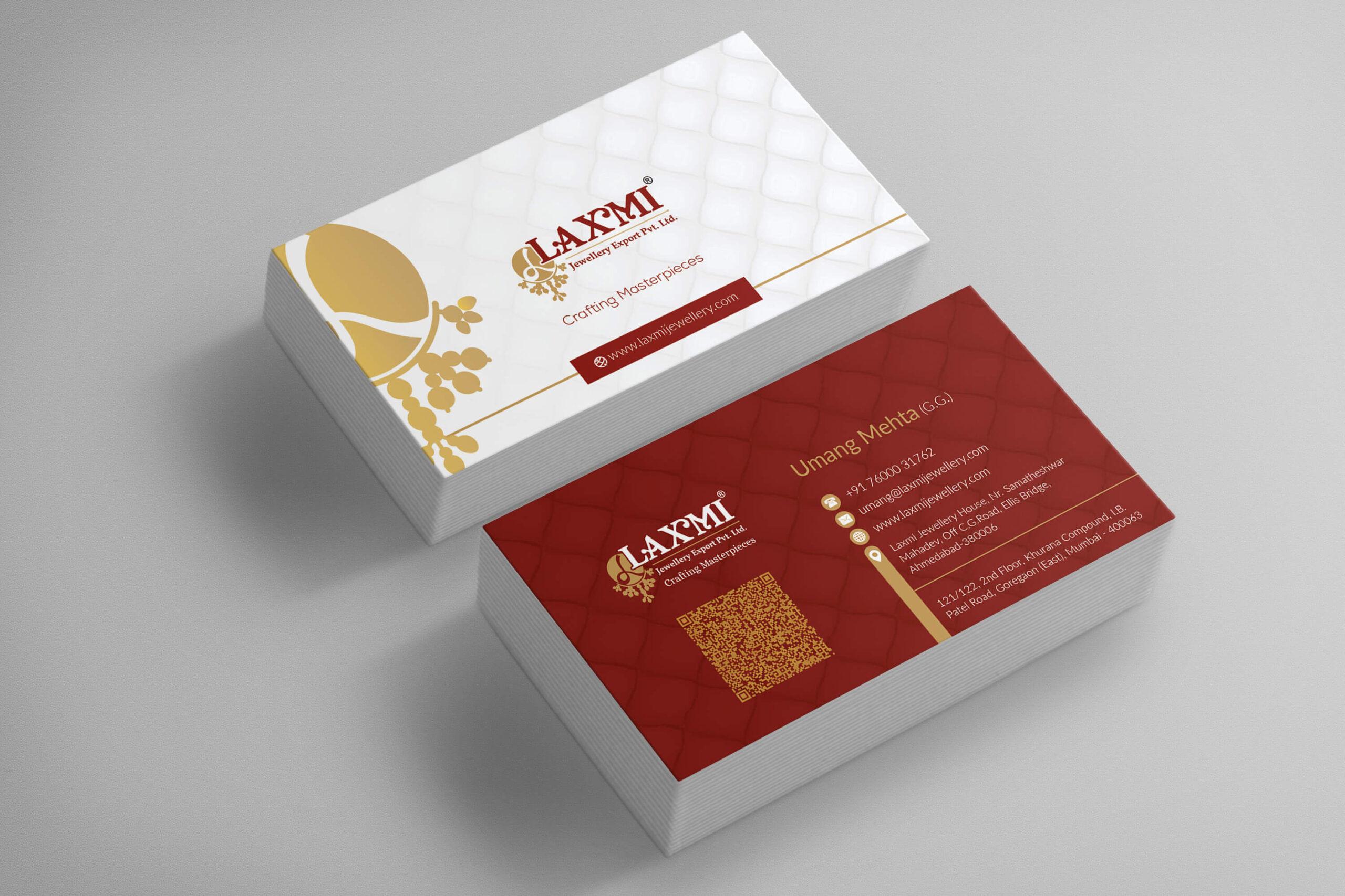 Laxmi Visiting Card