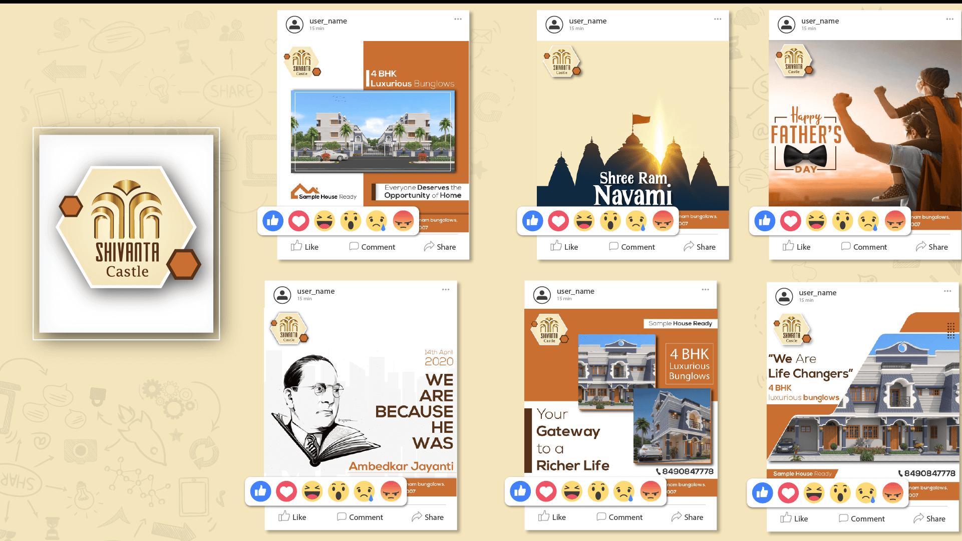 Shivanta Castle Social Media Creative