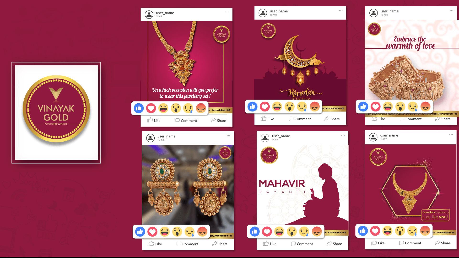 Vinayak Gold Social Media Creative