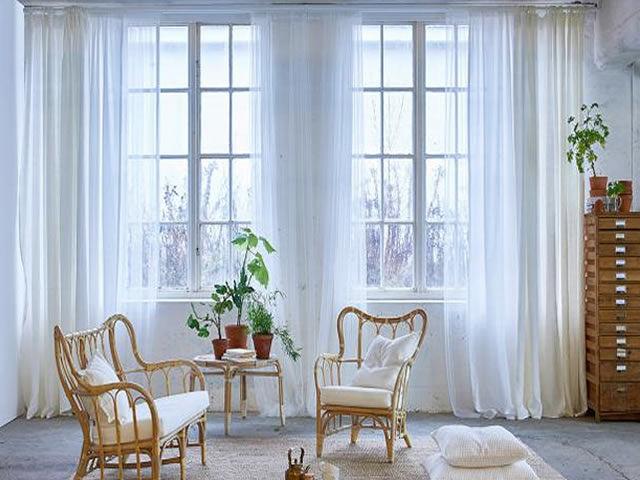 cortina voil classica para sala