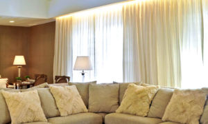 cortina para sala de seda