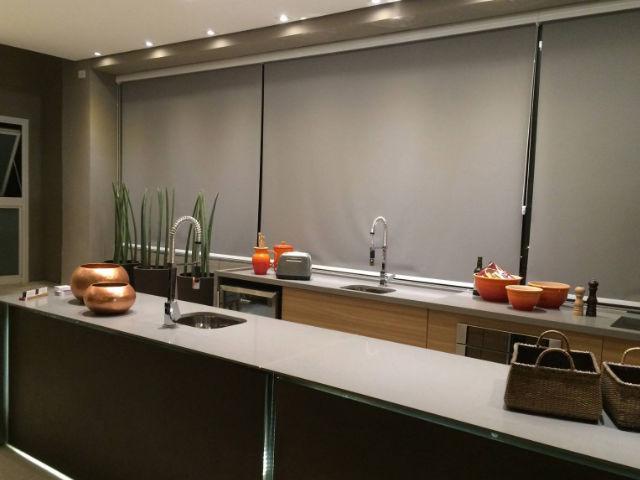 Cortina Rolô Blackout cozinha