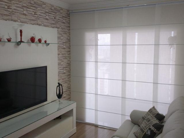 Cortina painel tela solar sala de tv