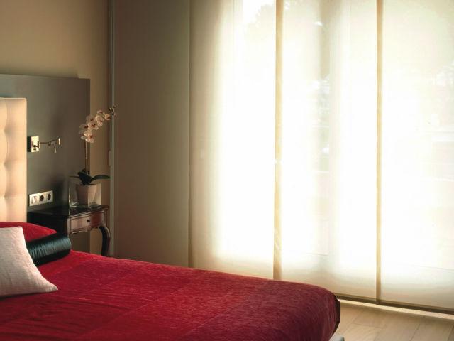 Cortina painel translucido quarto