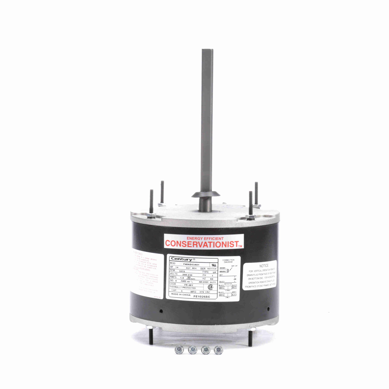 1 4 Hp Condenser Fan Motor 1075 Rpm 208 230 Volts 48 Frame Teao