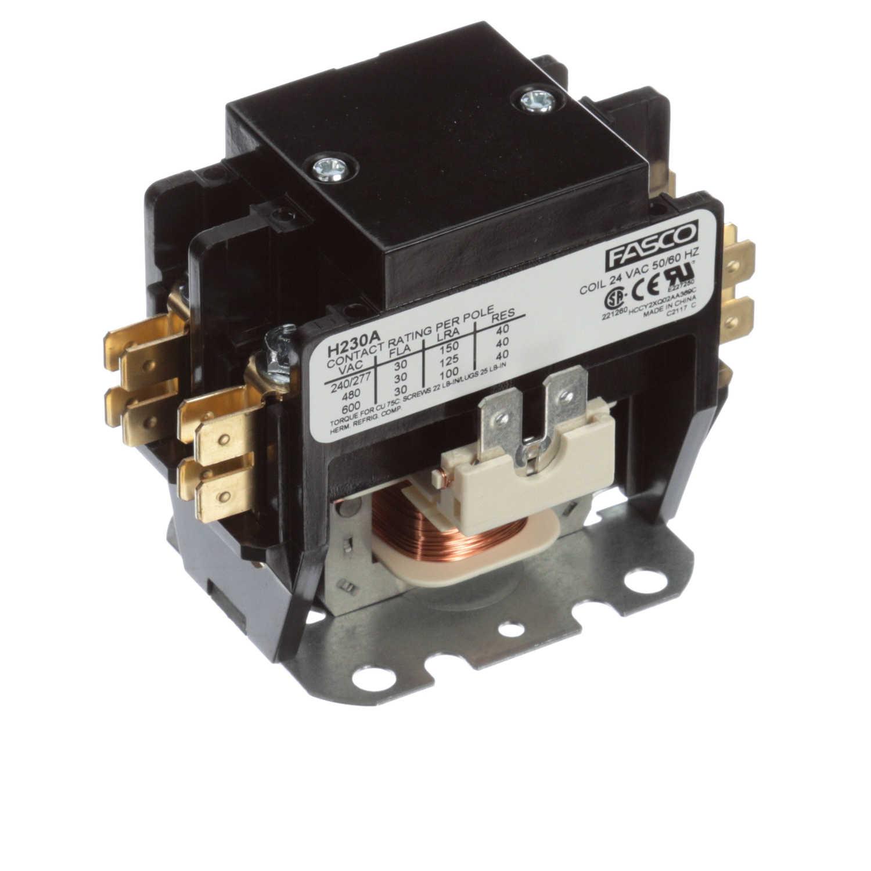 Contactor 2 Pole  30 Amps  24 Volts
