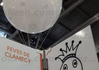 ballon géant feves de clamecy