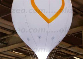 pin google gonflée à l'hélium