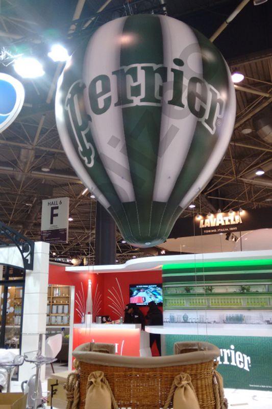 montgolfiere publicitaire total covering bicolore