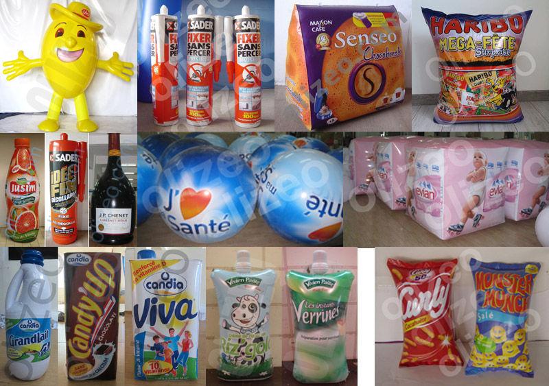 plv gonflable cartouche paquet bouteille