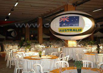 ballon de rugby pour l'équipe d'australie