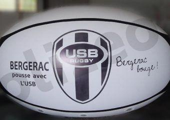 USb rugby bergerac ballon geant à helium