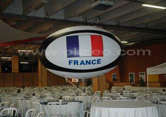 ballon rugby géant impression drapeau france