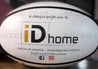 ballon idhome de rugby pour salon