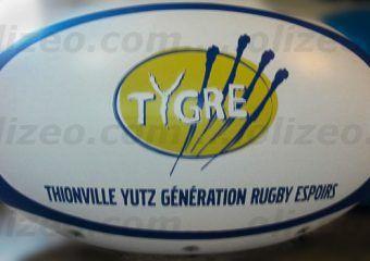 ballon de rugby publicitaire géant tygre