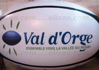 ballon de rugby val d'orge publicitaire
