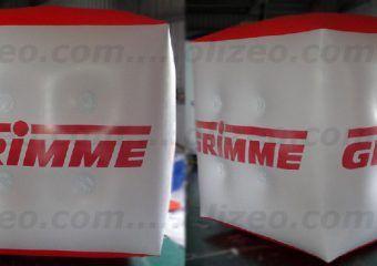 cube publicitaire helium grimme