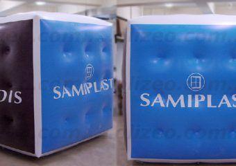 cube publicitaire helium samiplast