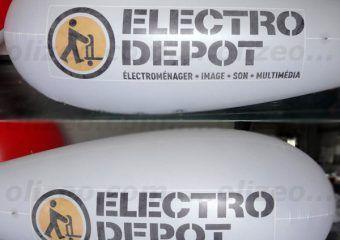 dirigeable publicitaire electro depot