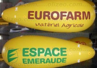 dirigeable publicitaire jaune eurofarm