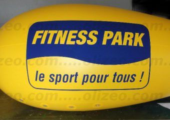 dirigeable jaune fitness park