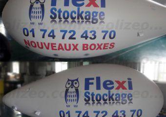 dirigeable publicitaire helium flexi stockage