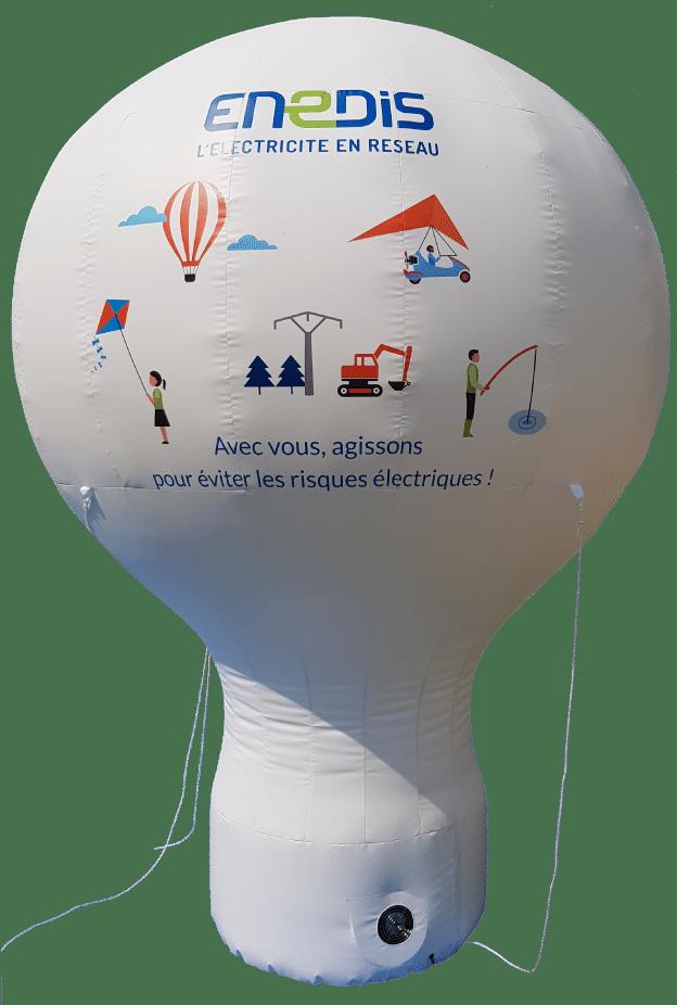 montgolfiere gonflable publicitaire enedis